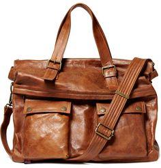 Belstaff tan leather holdall bag. $895