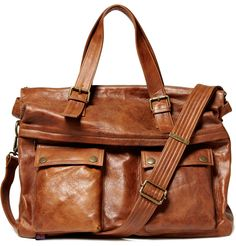 Belstaff tan leather holdall bag. $895