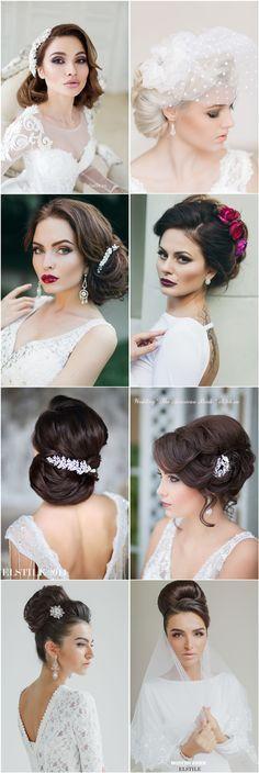 Gallery: vintage retro wedding hairstyles and retro wedding updos - Deer Pearl Flowers / http://www.deerpearlflowers.com/21-inspirational-vintage-retro-wedding-hairstyles/vintage-retro-wedding-hairstyles-and-retro-wedding-updos/