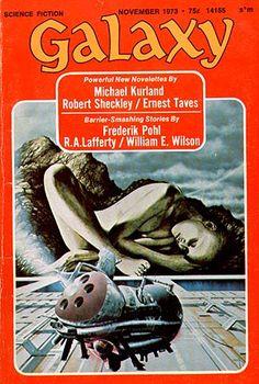 Galaxy No. 11 November 1973 Cover Art By Brian Boyle Classic Sci Fi Books, Cool Stuff For Sale, Pulp Magazine, Magazine Covers, Science Fiction Magazines, Pulp Art, Environmental Art, Retro Futurism, Sci Fi Art