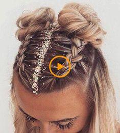 25 Chic Updo Wedding Hairstyles for All Brides Bride Hairstyles, Vintage Hairstyles, Easy Hairstyles, Updo, Bridal Fishtail Braid, Bun Braid, Glitter Rosa, Corte Pixie, Hair Inches