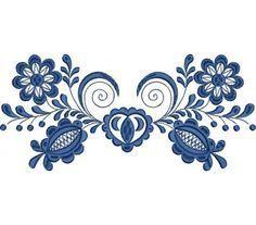 Výšivka Vajnory, 10 x 23 cm [Would make a great style to cover wings] Hungarian Embroidery, Folk Embroidery, Machine Embroidery, Embroidery Designs, Polish Folk Art, Scandinavian Folk Art, Stencil Designs, Body Art, Mandala