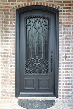 As a family owned business, We design and manufacture top quaility wrought iron doors, iron railing, lighting and windows over 15 years. Call Love That Door Home Window Grill Design, Window Design, Door Design, Metal Doors, Wrought Iron Doors, Iron Garden Gates, Front Gate Design, Single Doors, Gota