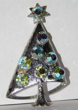Mylu 1960's Atomic Space Age Christmas Tree Pin ~ Book Piece...just added this bling-y tree!