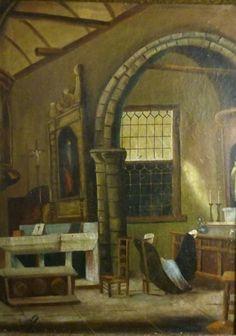 HG.COPPENS peinture Belge XIX XXe huile sur toile Religieux ancien oil on canvas