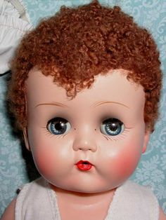 "images of betsy wetsy | 1950s Ideal Toy Co. Caracul 14"" BETSY WETSY Doll - Mint in Case"