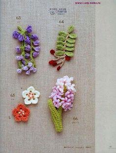 Crochet Mini Flower Motif Book - photo page Freeform Crochet, Thread Crochet, Crochet Motif, Crochet Doilies, Crochet Stitches, Cute Crochet, Irish Crochet, Crochet Crafts, Crochet Projects