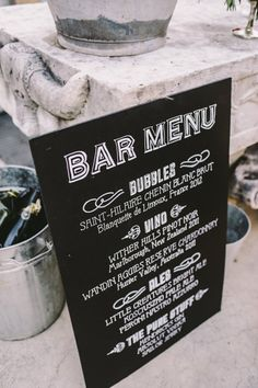 Mindaribba House wedding, Hunter Valley / Photography by Lara Hotz Bar Menu, Cool Bars, Chalkboard, Wedding Inspiration, Party, House, Photography, Drinks, Weddings