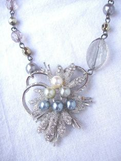 Vintage Assemblage Bead Necklace £25.00  designed by Jo Dale