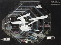 """""""Star Trek The Motion Picture"""" Original Spacedock Artwork by Bob McCall"""