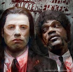 The art of Pulp Fiction for now in the Sketchbook by Vlad Rodriguez, via Behance