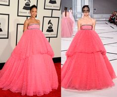 This year's Grammys were all about haute-couture. Check out the best celeb looks hot off the runway http://lookm.ag/ReM0nz