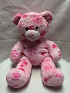 Hot pink and Light Pink Snowflake Build a Bear Workshop BABW Teddy Christmas EUC