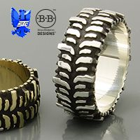 Super Swamper TSL/ Bogger Tire Ring® is the only jewelry licensed by the Interco Tire Corporation. The 4x4 tread pattern on this ring is far to much of an icon to be generalized like our other designs. So we worked with Interco and we are glad we did.