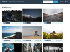Splashbase  is a collection of free, public domain, high resolution photos from around the web. You can search or browse, and the home page ...