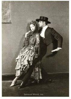 Ballet Dancer Martha Graham TED Shawn Postcard 1922 Dancing Couple Tango