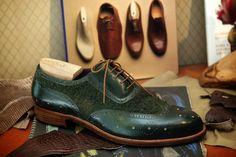 Roberto Ugolini Bespoke Green Casentino Full Brogue Oxford