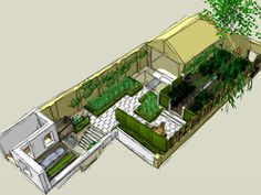 structure the garden establish a color palette. list plants according to heights, flowering time, and base size start to imagine: Richard Miers, UK Chelsea Flower Show, Garden Beds, Garden Inspiration, Terrace, Garden Design, Bloom, Yard, Mansions, Architecture