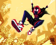 Art and Animation by Jesse Zhang, animation graduate! Miles Spiderman, Miles Morales Spiderman, Black Spiderman, Spiderman Spider, Amazing Spiderman, Marvel Dc, Marvel Heroes, Marvel Comics, Character Art