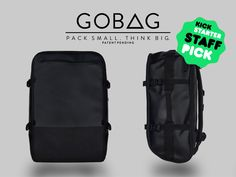 e7b713adbc GOBAG - A Vacuum Compressible Carry-On Bag For Any Adventure project video  thumbnail Travel