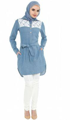 796ace667f chambray and lace love! Jalilah lace yoke tunic available at artizara.com · Tunic  ShirtIslamic ClothingScarf ...