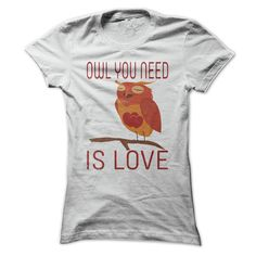 Cute Owl You Need Is Love T Shirt T Shirt, Hoodie Ebay