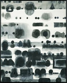 iamjapanese:Jan Tarasin(Polish, 1926-2009)Records Ⅲ 1993 indian ink, brush, papervia