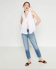 Image 1 of FRILLED WAISTCOAT from Zara