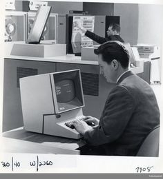 """""""IBM 2260 was an earlier Master Of Bezels. I believe you could buy a more expensive model with More Screen, or a cheaper one with fewer lines… but the same form factor (just more plastic). Retro Advertising, Something Old, How To Make Shorts, Ibm, Writing A Book, Workplace, Communication, Twitter, Screens"""