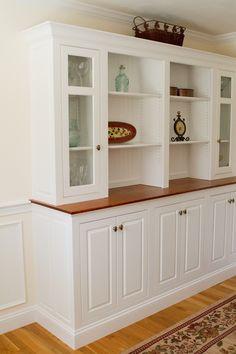 ... Elegant dining room built ins seacoast dining room built in teeple furniture ...