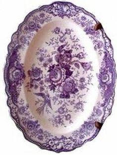 lavender purple toile transferware - photo #42