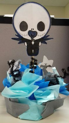 Awesome Jack Skellington Baby Shower Centerpiece