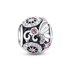 """Butterfly Hiding In Flowers Charm ❤ Wonderful gifts for Mother's day,Teacher's Day,Christmas...More compatible Pandora Charms, beads, bracelets on www.glamulet.com. You can get 5% off on all products with coupon code """"PIN5""""."""