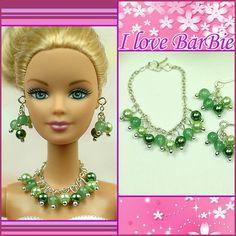 barbie dolls jewelry set barbie crystal necklace and by sinogem, $5.99