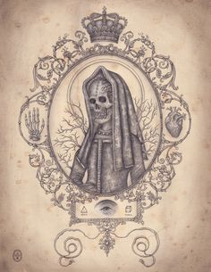 Santa Muerte, Graphite on Paper