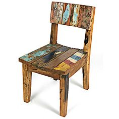 re-purposed furniture chair