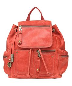 Look at this Lucky Brand Cayenne Cargo Leather Backpack on #zulily today!