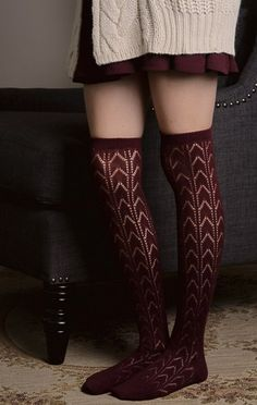 Patterned Knit thigh high boot socks. Fits sizes 4-9. 100% Acrylic