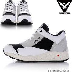 (SBENU) B(BN)-001 GR BENUTHY Mens Womens Sneaker Running Elevator Shoes AOA IU #SBENUhellobincom #RunningFashionSneakerShoes