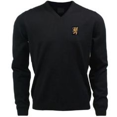 Psl Custom Kit Turton V Neck Sweatshirt Black Turton Clothing