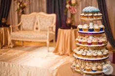 Cupcake cake. Photo by www.weddingdocumentary.com