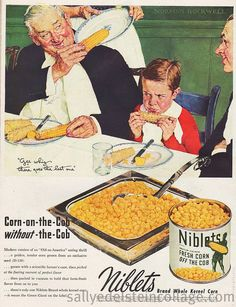 Norman Rockwell Green Giant Corn Ad