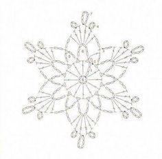 「かぎ編みの雪の結晶」の画像検索結果