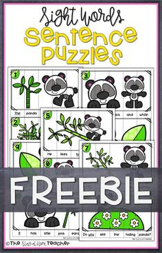 Your students will be SO engaged during their Sight Words practice with these fun sentence building puzzles! Kiddos will practice sentence structure and using Fry's First 100 words.