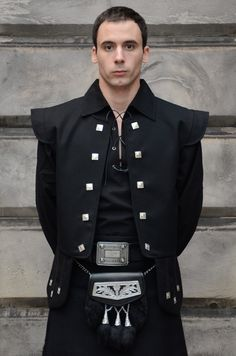 black Jacobite kilt - As many of my forefathers were...shipped to the US on prison ships....