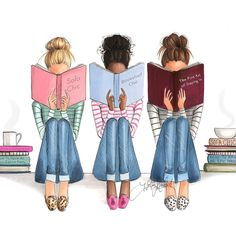 """""""Plans"""" fashion illustration by Holly Nichols Bff Pics, Bff Pictures, Best Friend Pictures, Best Friends Cartoon, Friend Cartoon, Best Friend Drawings, Girly Drawings, Friends Sketch, Image Princesse Disney"""