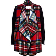 Layer up for winter in this endlessly versatile reversible tartan waterfall jacket #riverisland