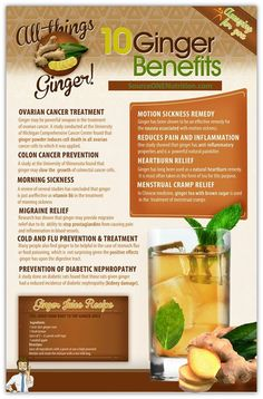 The 10 benefits of Ginger! Visit: SourceONENutrition.com TODAY!
