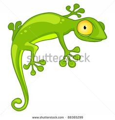 stock vector : Cartoon Character Lizard Isolated on White Background. Vector.