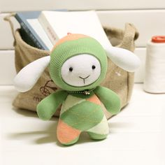baby sheep socks doll